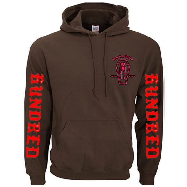 Brown Color With White Text Pewdiepie Hoodies