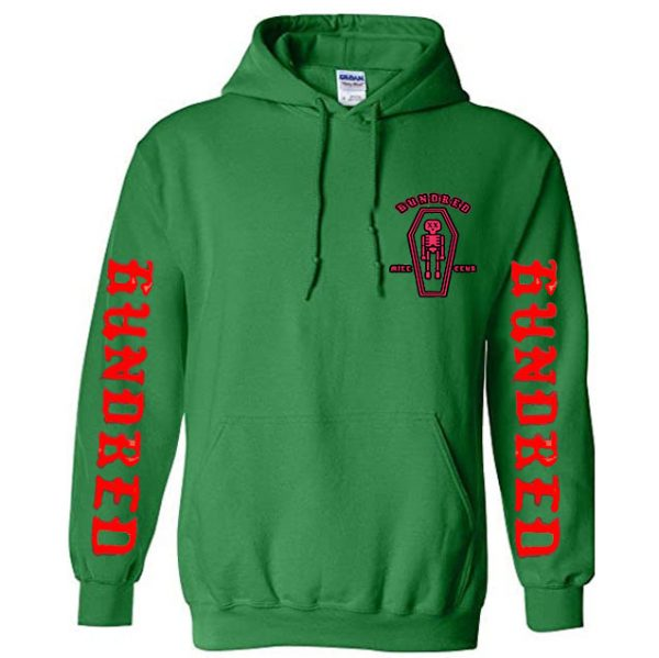 Green Color With White Text Pewdiepie Hoodies