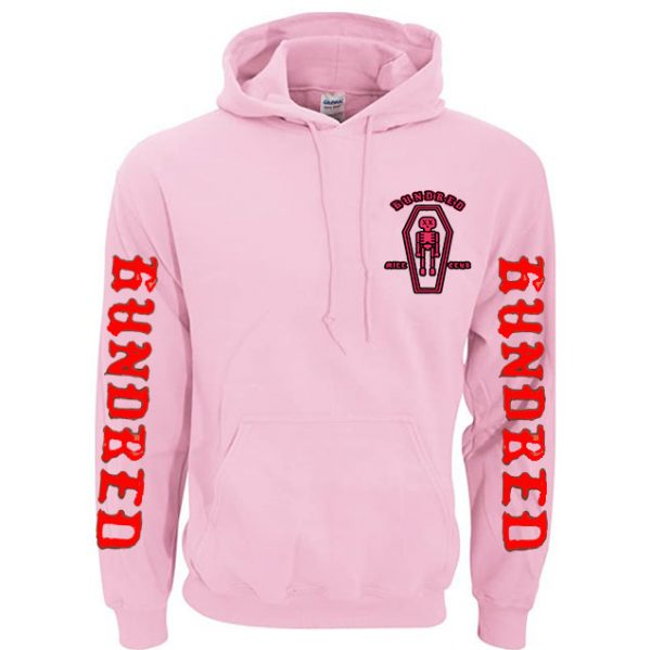 Pink Color With White Text Pewdiepie Hoodies