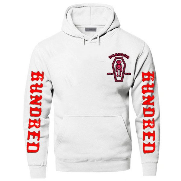 White Color With White Text Pewdiepie Hoodies