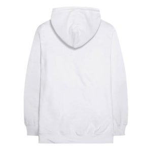 white color with red text pewdiepie merch hoodie