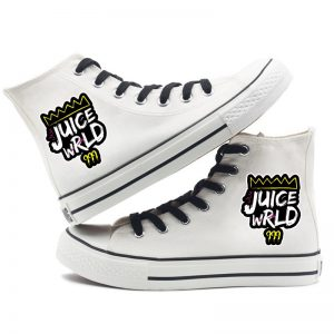 2020 Juice Wrld Canvas Shoes For MenWomen design b