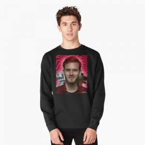 Black Color With Pewdiepie Minecraft Sweatshirt