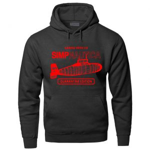 Black Color With Red Text Logo PewDiePie Merch Hoodies