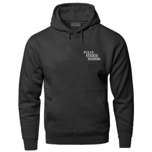 Black Color With White Text Pewdiepie Merch Black Hoodies
