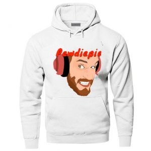 Black Red Blue Color With Pewdiepie Image White Hoodies