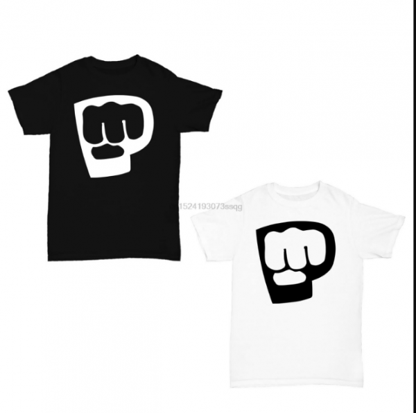 Black White Color Pewdiepie Logo White Black T-Shirt