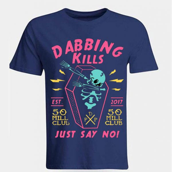 Blue Color With Pewdiepie Dabbing Kill Men's T-Shirt