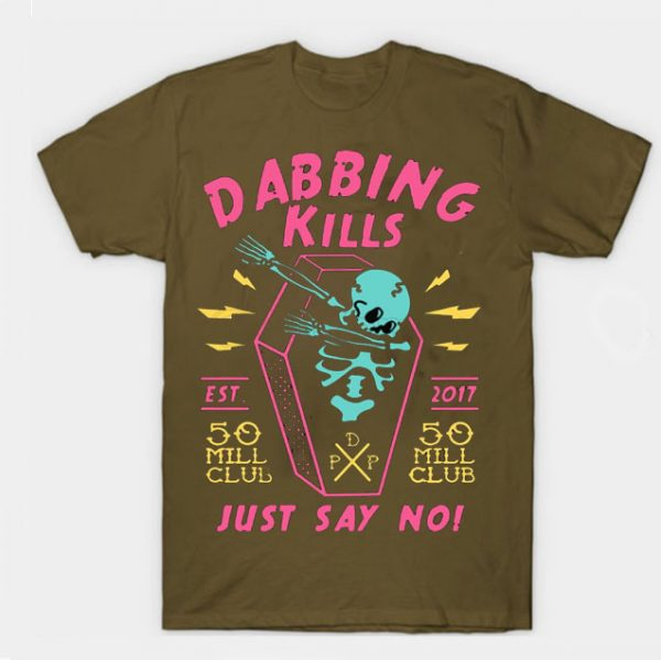Brown Color With Pewdiepie Dabbing Kill Men's T-Shirt