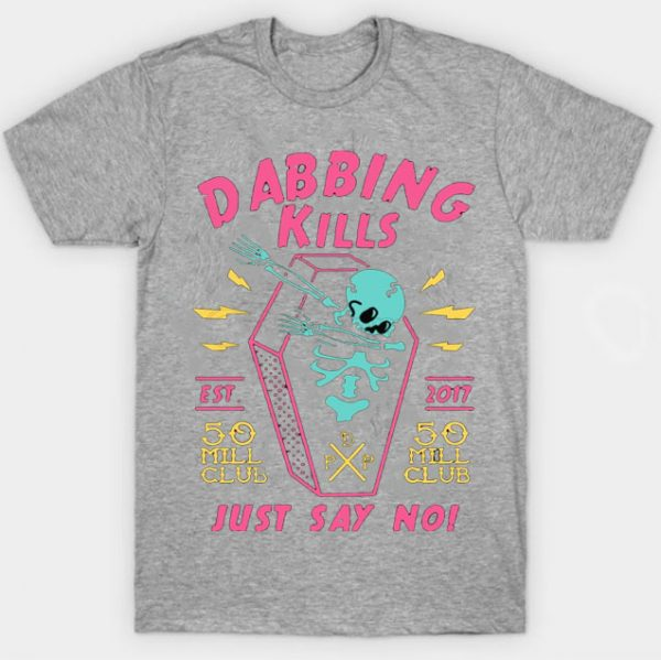 Gray Color With Pewdiepie Dabbing Kill Men's T-Shirt