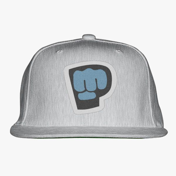 Gray Color With Pewdiepie Smash Logo Snapback Hat