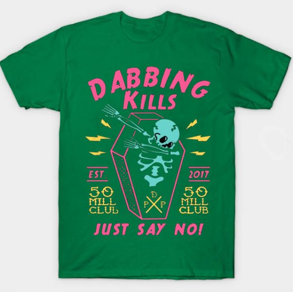 Green Color With Pewdiepie Dabbing Kill Men's T-Shirt