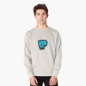 Grey Color With Pewdiepie Logo Sweatshirt
