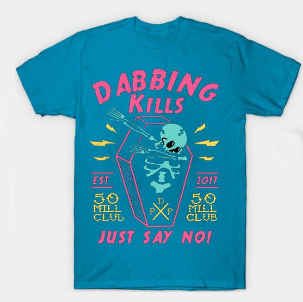 Light Blue Color With Pewdiepie Dabbing Kill Men's T-Shirt