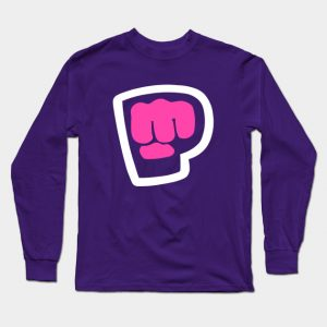 Male Pewdiepie Brofist Pink Long Sleeve T-Shirt