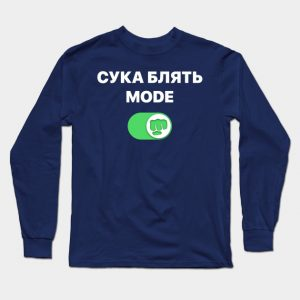 Male Pewdiepie - cyka blyat mode Brofist Pewds Long Sleeve T-Shirt Black