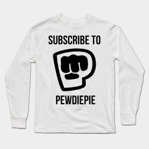 Male Subscribe to Pewdiepie Long Sleeve T-Shirt