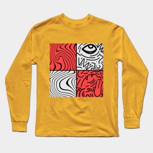 Male gold PewDiePie inspired Long Sleeve T-Shirt