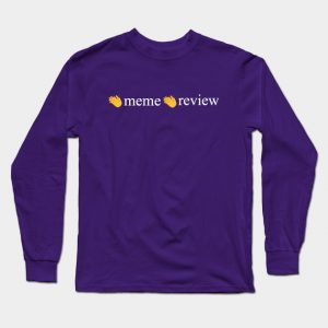 Meme Review Long Sleeve T-Shirt male purple