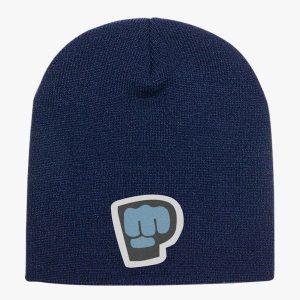 Navy Color With Pewdiepie Smash Logo Beanie