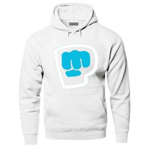 Pewdiepie Smash Logo Print Brown Hoodies