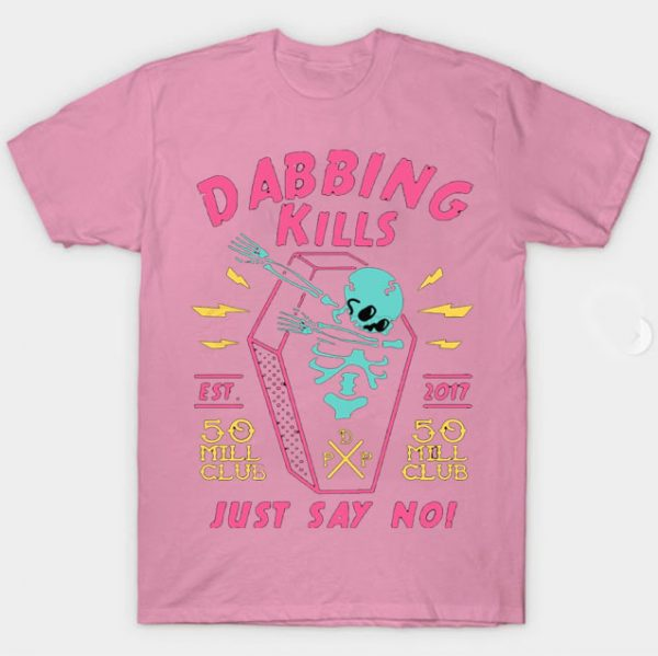 Pink Color With Pewdiepie Dabbing Kill Men's T-Shirt