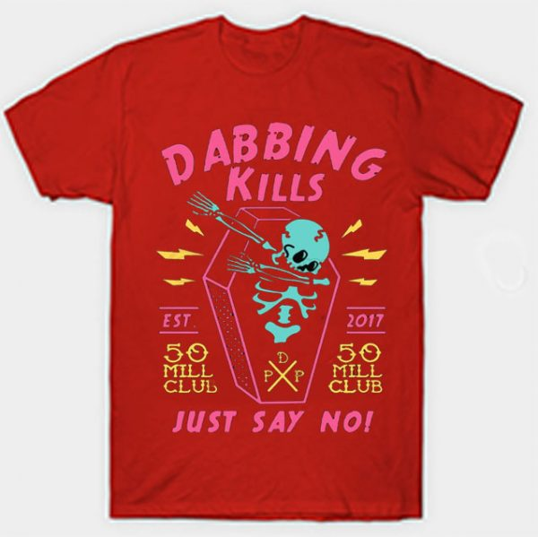 Red Color With Pewdiepie Dabbing Kill Men's T-Shirt