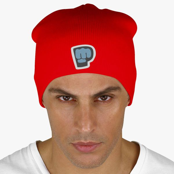 Red Color With Pewdiepie Smash Logo Beanie