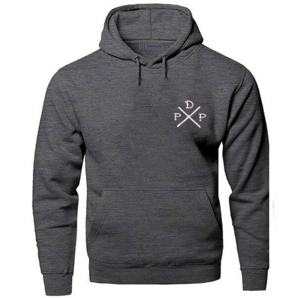 Short Logo Pewdiepie Merch Dark Gray Hoodies