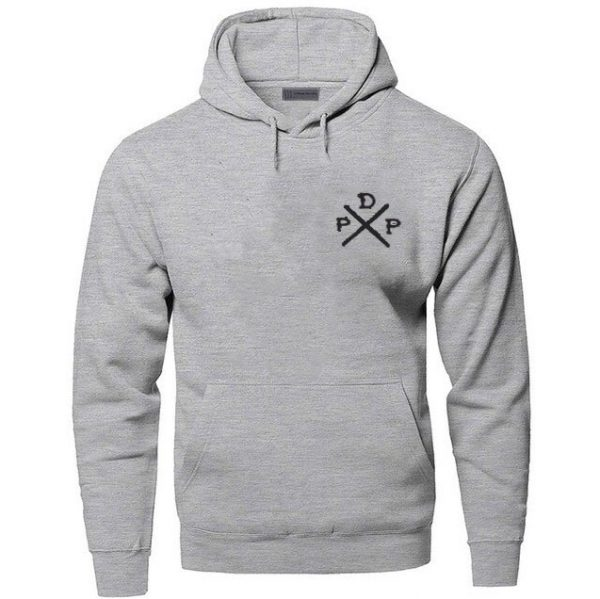 Short Logo Pewdiepie Merch Gray Hoodies