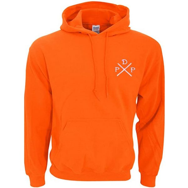 Short Logo Pewdiepie Merch Orange Hoodies