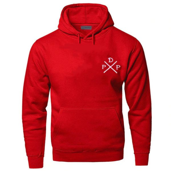 Short Logo Pewdiepie Merch Red Hoodies