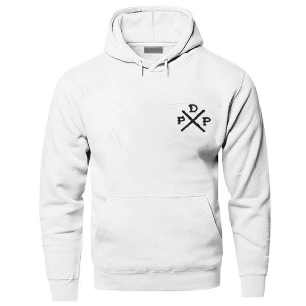 Short Logo Pewdiepie Merch White Hoodies