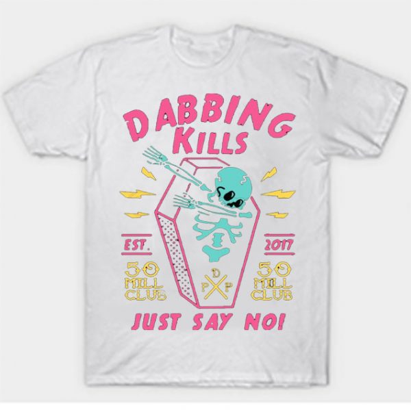 White Color With Pewdiepie Dabbing Kill Men's T-Shirt