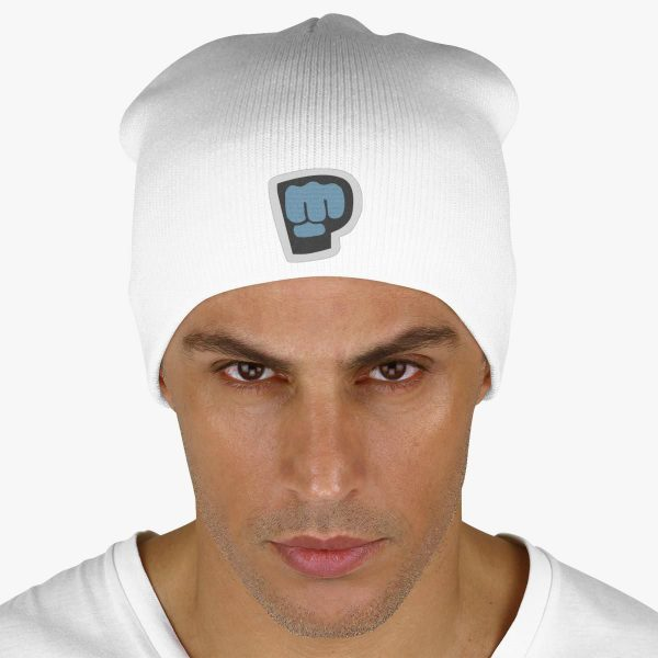 White Color With Pewdiepie Smash Logo Beanie