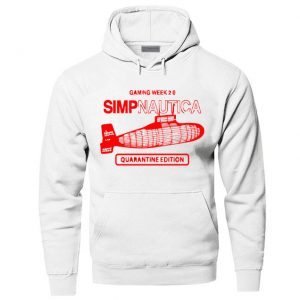 White Color With Red Text Logo PewDiePie Merch Hoodie