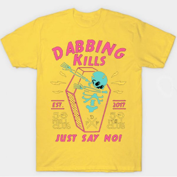 Yellow Color With Pewdiepie Dabbing Kill Men's T-Shirt