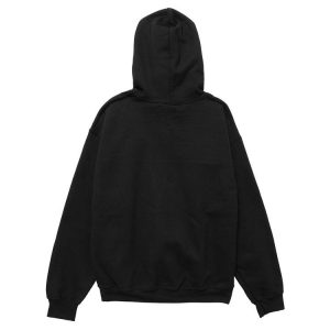 black color with white logo and red line pewdiepie merch hoodie