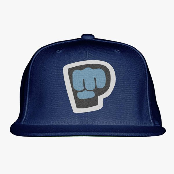 blue Color With Pewdiepie Smash Logo Snapback Hat
