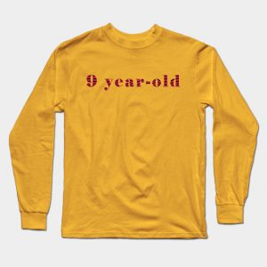 male gold 9 year-old Long Sleeve T-Shirt