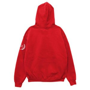 red color with black background pewdiepie merch hoodie