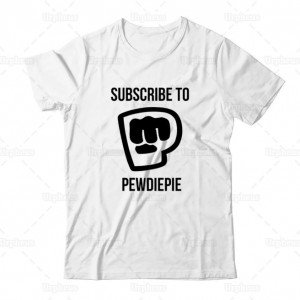 white color with pewdiepie smash logo shirt