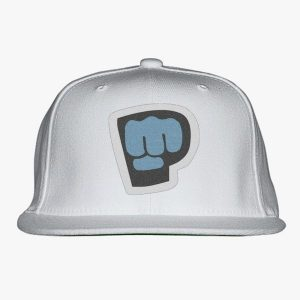 white color with pewdiepie smash logo snapback hat