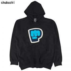 New Pew Die Pie Pewdiepie Symbol Famous Vlogger Men's Black hoodie free shipping tops sbz4386 Size S-3XL bigger euro size
