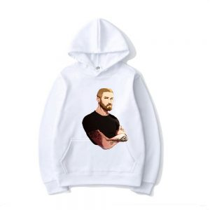 PewDiePie of the Design Hoodie Men Boy's Women's Girl's Sweatshirt Printed Hoody white