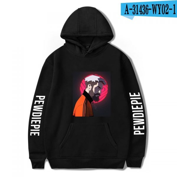 Pewdiepie Sweatshirts Loose Young Casual Adult Letter Men's Hoodies 2020 New Stylish Logo Clothes Full Spring Autumn Winter WY02