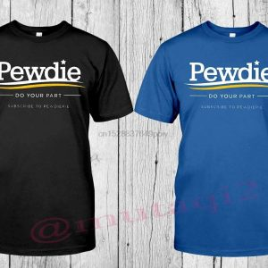 Pewdiepie T Shirt Newharajuku Streetwear Shirt Menunisex Short Sleeve black and blu