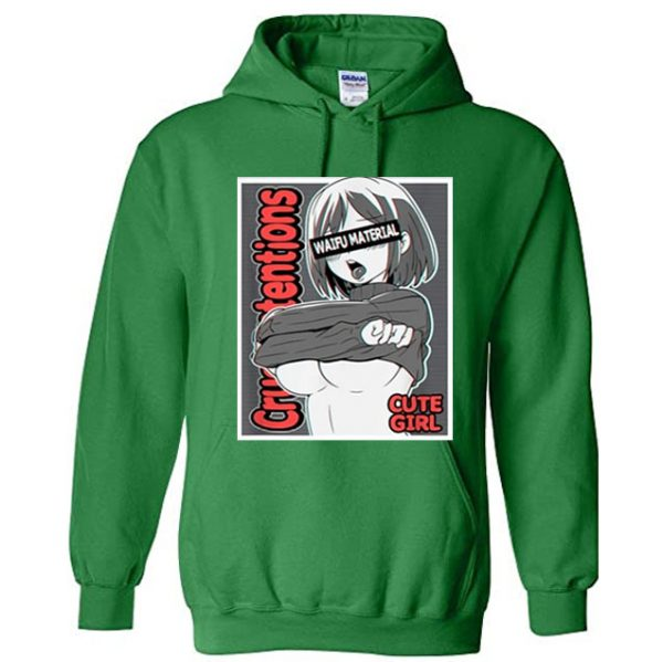 Anime Girls Hoodie Green