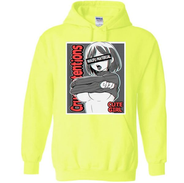 Anime Girls Hoodie Yellow