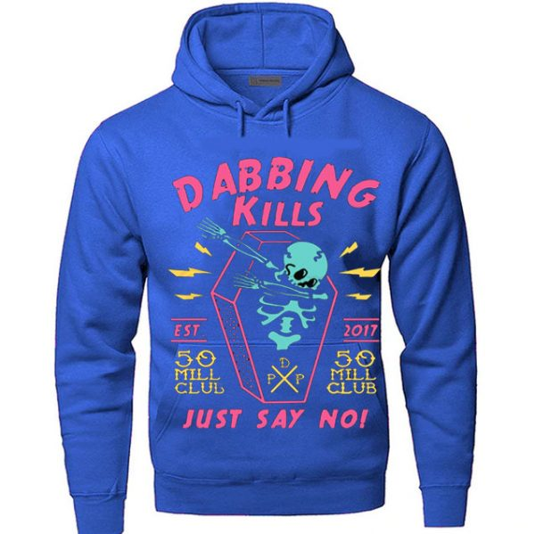 Light Blue Color With Pewdiepie Dabbing Kill Men's Hoodies